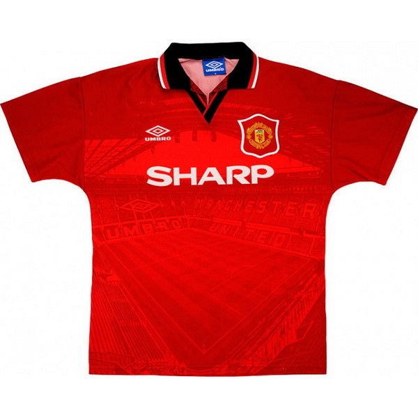 Maillot Foot Manchester United 1ª Retro 1994 1996 Rouge